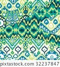 Ethnic bohemian arabesque pattern. Zigzag  32237847