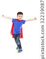 superhero kid standing in studio 32239087