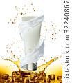 cream, bottle, gold 32240867