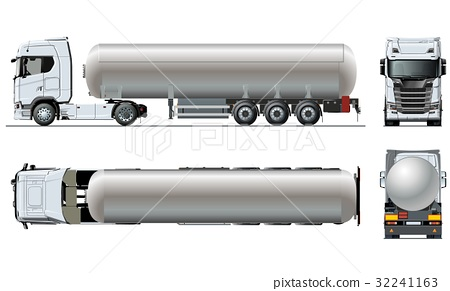 Vector realistic tunker truck template isolated on 32241163