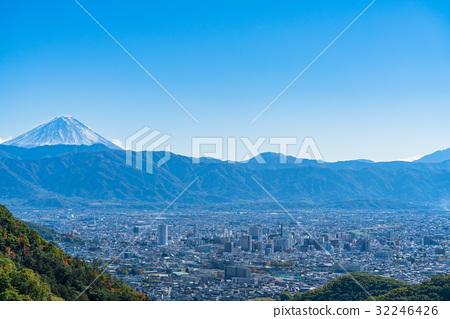 甲府市 富士山 秋天 32246426