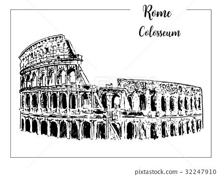 Coliseum. Rome architectural symbol. Italy.  32247910