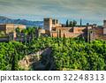 ancient arabic fortress of Alhambra, Granada, 32248313