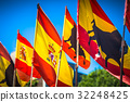 Spanish national official flags. Patriotic symbol 32248425