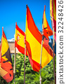 Spanish national official flags. Patriotic symbol 32248426