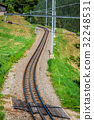 Railway in sunny day,Switzerland.  32248531