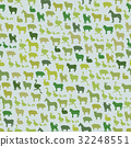 Farm animals silhouette seamless pattern. Zoo 32248551