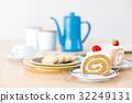 休息時間 工間喝咖啡休息時間 蛋糕 32249131