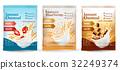 oatmeal, wheat, vector 32249374