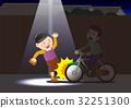 위험한 자전거의 무 등불 운전 32251300