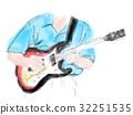 一個人彈電吉他 32251535