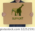 Save Wildlife Protect World Concept 32252591