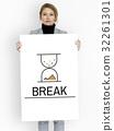 Hourglass Sandglass Timer Icon Word 32261301