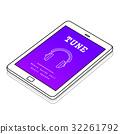 Music Audio Headphones Sign Symbol 32261792