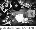 Group of DJ mixing the classic oldschool music vinyl record 32264203