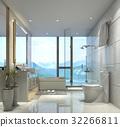 bathroom bathtub interior 32266811