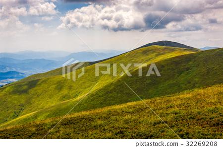 rolling hillsides of Carpathian mountain ridge 32269208