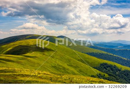 rolling hillsides of Carpathian mountain ridge 32269209
