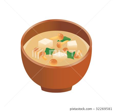 된장국, 일식, 일본 음식 32269581