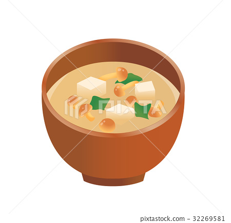 nameko mushroom soup, miso soup, japanese food 32269581