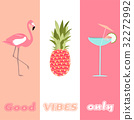 flamingo, vibe, vector 32272992