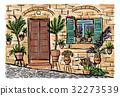 painting, town, mediterranean 32273539
