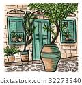 painting, town, mediterranean 32273540