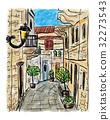 painting, town, mediterranean 32273543