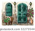 painting, town, mediterranean 32273544