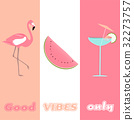 flamingo, vibe, vector 32273757