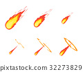 Cartoon Comet Effect Stages Set. Vector 32273829