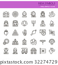 India Symbols , Thin Line and Pixel Perfect Icons. 32274729