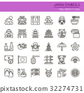 Japan Symbols , Thin Line and Pixel Perfect Icons. 32274731