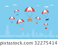 objects with insurance parachute 32275414