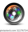 Camera Lens on white background. 32276734