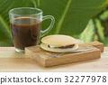 Red bean filling Dorayaki Pan cake with coffee 32277978