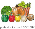 Types of fresh vegetables still life 32278202