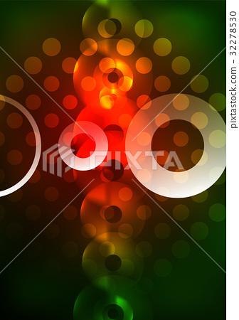 Glowing circles in the dark 32278530