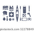 Kayaking and outdoors camping adventure equipment 32278849