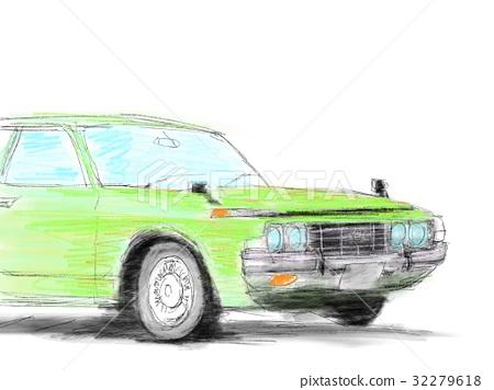 Classic car illustration 32279618