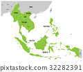 ASEAN Economic Community, AEC, map. 32282391