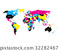 Political map of World in CMYK color 32282467
