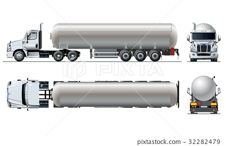 Vector realistic tunker truck template isolated on 32282479