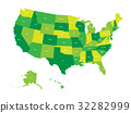 Map of United States of America 32282999