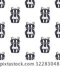 Vintage hand drawn backpacks seamless pattern 32283048