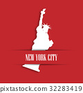 Statue of Liberty white paper cutting 32283419