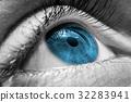Blue human eye 32283941