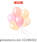 Pastel colored shine transparent air balloons 32286402