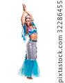 Carnival dancer woman dressed as a mermaid posing 32286455