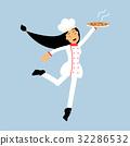 cook, chef, female 32286532